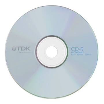 TDK CD-R 52x papírtokos lemez (10)
