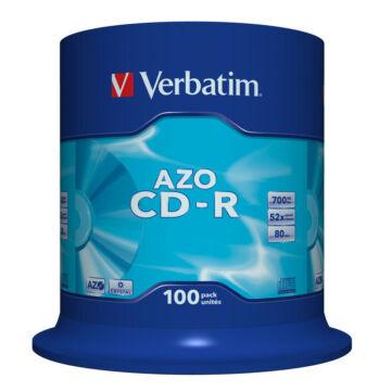 Verbatim CD-R 52X Lemez, Crystal Azo Réteg - Cake (100)