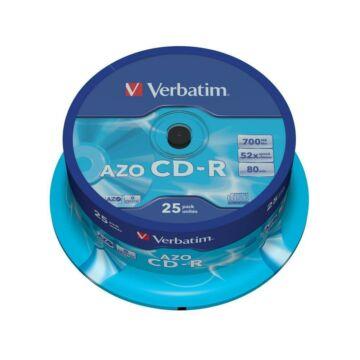 Verbatim CD-R 52x lemez, Crystal AZO réteg, cake (25)