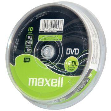 Maxell DVD+R 8x DL megnövelt kapacitású lemez,  cake (10)