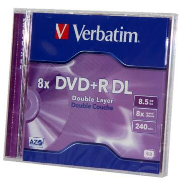 Verbatim DVD+R DL 8X 8,5 gB Lemez, Normál Tokban (1)