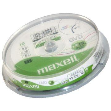 Maxell DVD+R DL 8,5 gB 8X Nyomtatható Felületű Lemez - Cake (10)