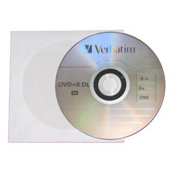 Verbatim DVD+R 8x DL megnövelt kapacitású, papírtokos lemez (10)
