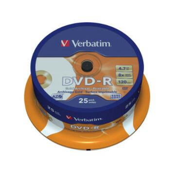 Verbatim DVD-R 8X Archival Lemez - Cake (25)