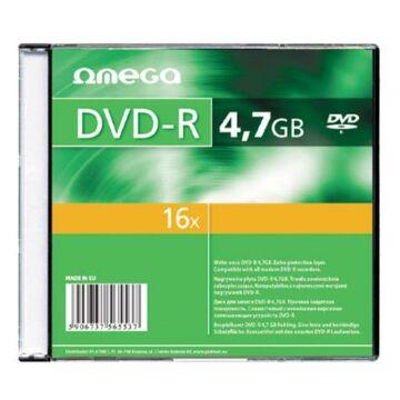 OMEGA DVD-R 4,7GB 16X lemez, slim tokban (10) 56818