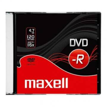 Maxell DVD-R 16X Lemez - Slim Tokban (10)