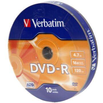 Verbatim DVD-R 16X Lemez - Shrink (10)