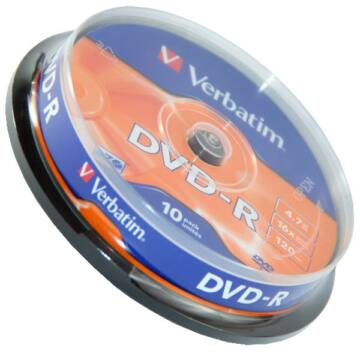 Verbatim DVD-R 16X Lemez, Cake (10)