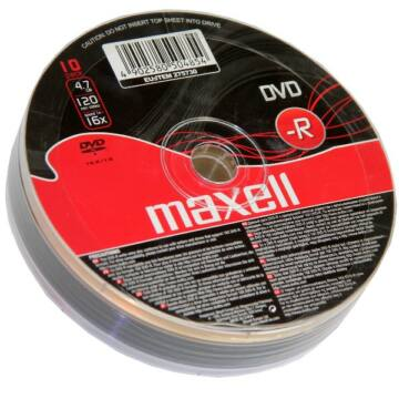 Maxell DVD-R 16X Lemez - Shrink (10)