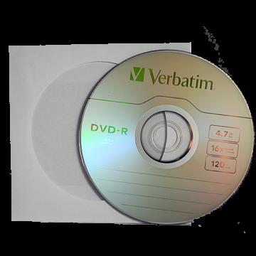 Verbatim DVD-R 4,7 GB 16x papírtokos lemez (10 db)