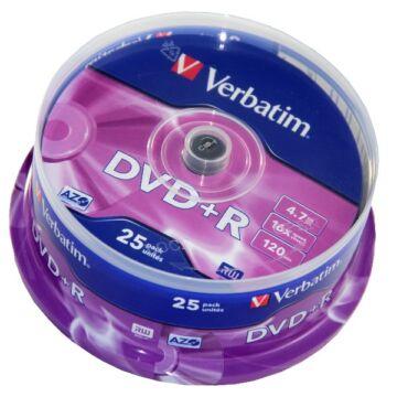 Verbatim DVD+R 16X Lemez - Cake (25)