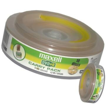 Maxell DVD+R 16x lemez, Carry Pack (10)
