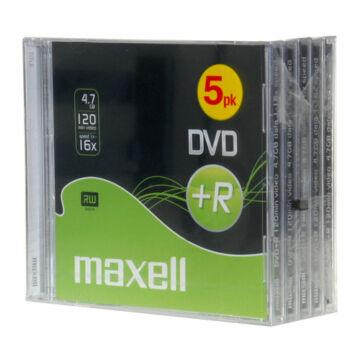Maxell DVD+R 8X Lemez, Normál Tokban (5)