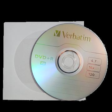 Verbatim DVD+R 16X Lemez - Papírtokban (10)