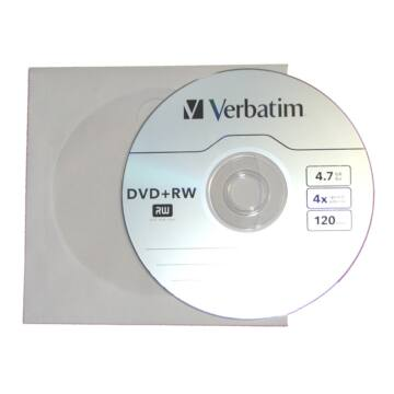 Verbatim DVD+RW 4x papírtokos lemez (10)