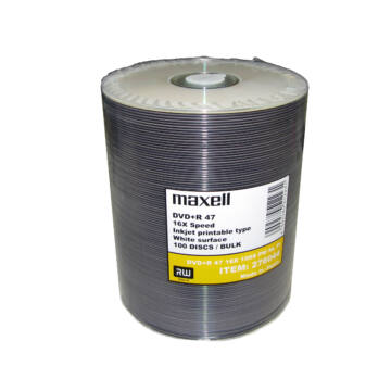Maxell DVD+R 16X Taiyo Yuden (Made In Japan) Nyomtatható Felületű Lemez - Shrink (100)