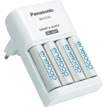 Panasonic BQ-CC16 Akkutöltő + 4 db Panasonic Eneloop Akku. AA NI-MH 1900 mAh