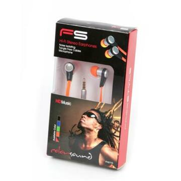 Freestyle Headset Zajszűrővel Fh2110 Narancs Sárga Flat Cable 41680