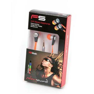 Freestyle Headset Zajszűrővel Fh2110 Narancssárga Flat Cable 41680
