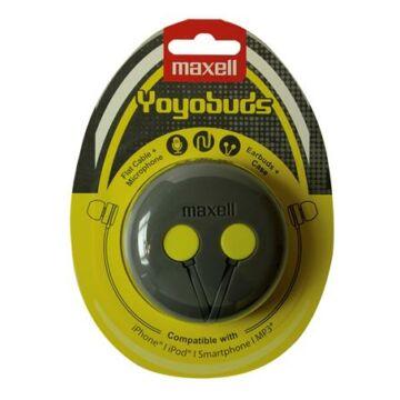 Maxell Yoyobuds fülhallgató szürke-sárga