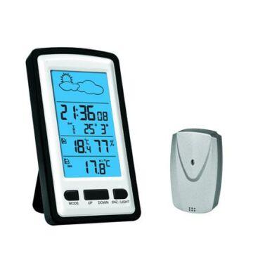 OMEGA Digitális Vezeték nélküli Időjárás állomás LCD 42362