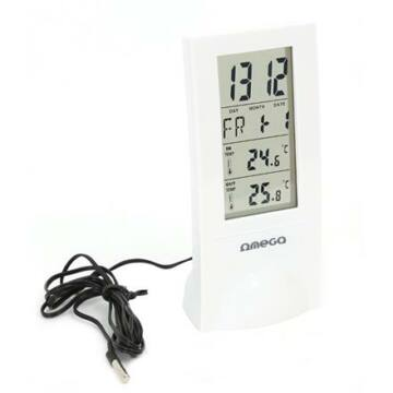 Omega Digitális Időjárás Állomás, Fehér Big Lcd 42380