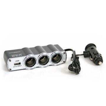 Omega 3 Szivargyújtóelsoztó + USB Port Tc-911 40418