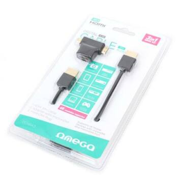 Omega Hdmi Kábel V.1.4 Fekete + Adapter To Minihdmi, Microhdmi 3M 42283