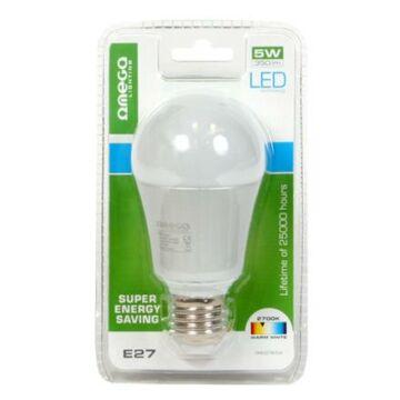 OMEGA LED izzó Aluminium 2700K E27 5W 350lm 41572