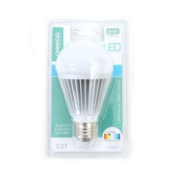 OMEGA LED izzó Aluminium 2700K E27 9W 800lm 41872