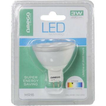 OMEGA LED SPOT LIGHT ALUMINIUM 2700K GU5.3 MR16 3*1W 41873