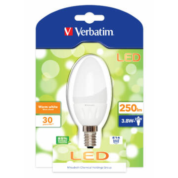 Verbatim Led E14 3,8W 250Lm (25W) Candle /Zslve0828