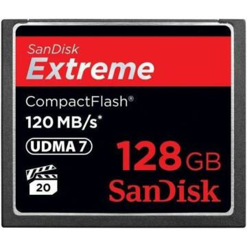 SanDisk Extreme 128GB Compact Flash Memóriakártya