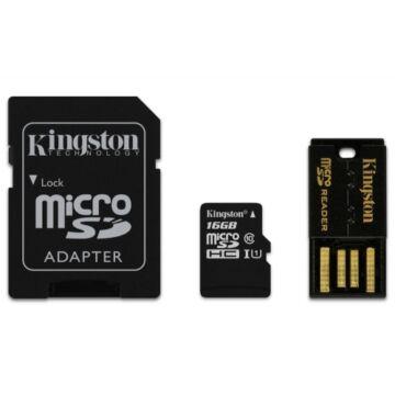 16GB Mobility Kit Kingston Class 10 (microSD+adapter+olvaso)