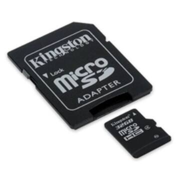 32GB Micro SDHC Kingston - class 4+ adapter