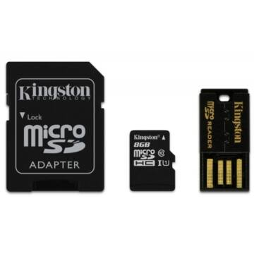 8GB Mobility Kit Kingston Class 10 (microSD+adapter+olvaso)