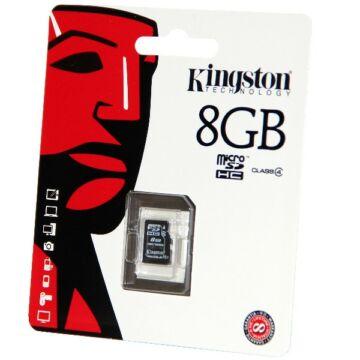 8GB Micro SecureDigital (SDHC) Kingston , Class 4
