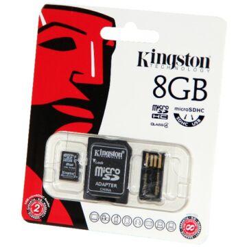 8GB Mobility Kit Kingston (microSD+adapter+olvaso)