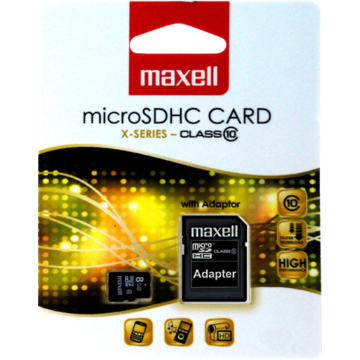 8GB Micro SDHC  Maxell - Class 10+ adapter