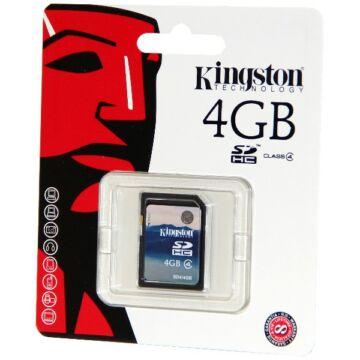 4GB SecureDigital (SDHC) Memory Card Kingston , Class 4