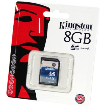 8GB SecureDigital (SDHC) Memory Card Kingston , Class 4