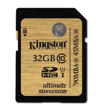32GB SDHC memóriakártya Kingston Ultimate UHS-I Class 10