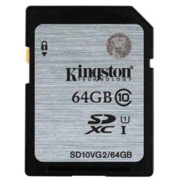 64 GB SECURE DIGITAL SDXC UHS-I KINGSTON - CLASS 10 45MB/s