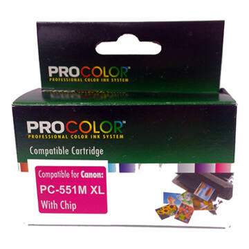 Procolor Canon PC- 551 M XL CHIP magenta utángyátott tintapatron