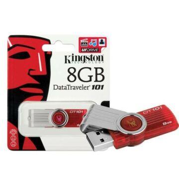 8 GB pendrive Kingston USB 2.0 DataTraveler 101 G2 piros
