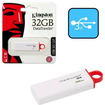 32 GB pendrive Kingston USB 3.0 DataTraveler  G4 Piros