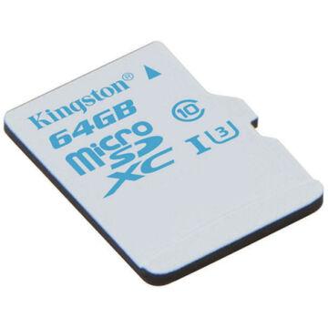 Kingston 64GB Micro SDXC Action Card Memóriakártya UHS-I Class U3 (90/45 Mb/S) (SDCAC/64GBSP)
