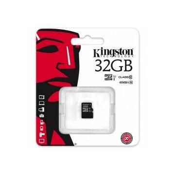 Kingston 32GB Micro SDHC Memóriakártya UHS-I U1 Class 10 (45/10 Mb/S)