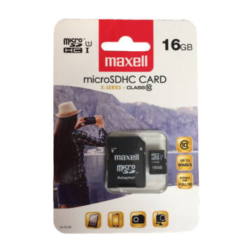 Maxell Micro SDHC 16GB Class 10+ adapter 90 MB/s