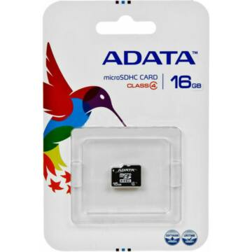 Adata 16GB Micro SDHC Memóriakártya Class 4